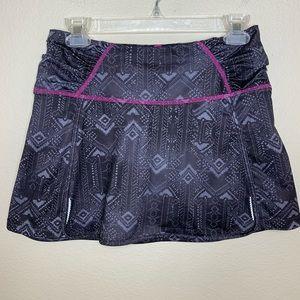 Athleta Workout Athletic Running Skirt Black Pink